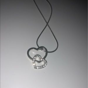 Silver heart necklace !!